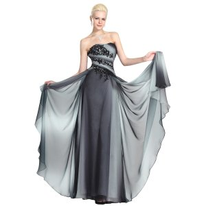 robe de soiree mariee ceremonie longue gris sans bretelle corselet plisse robe longue d 39 ete. Black Bedroom Furniture Sets. Home Design Ideas