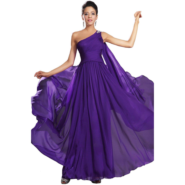 robe longue de mariage a bretelle unique longue violet robe longue d 39 ete femme 2013. Black Bedroom Furniture Sets. Home Design Ideas